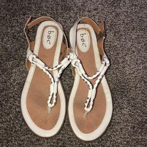 White Sandals. Lightly worn.